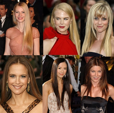 Oscars Hair Trend: Long Straight Hair