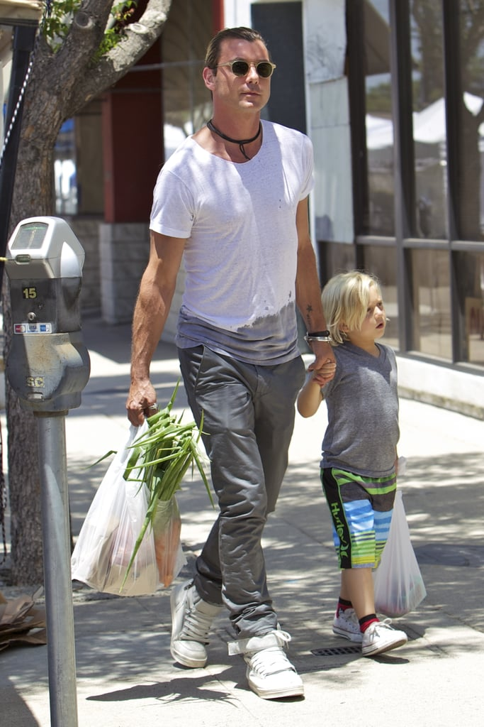 Gavin Rossdale spent Father's Day with his son Zuma at the farmers market in LA's Studio City neighborhood.