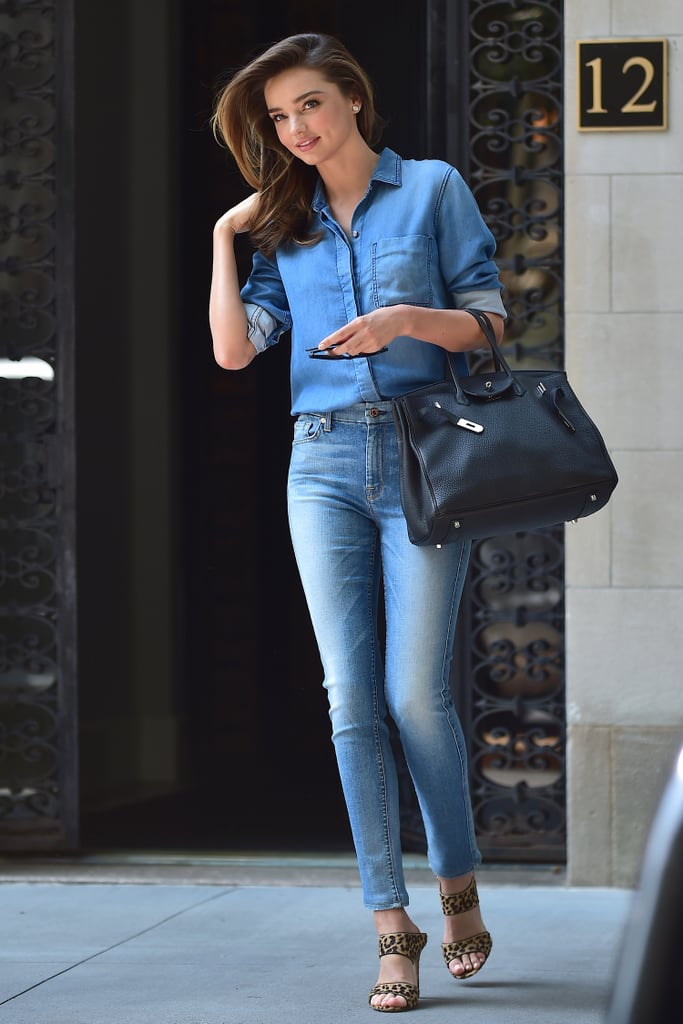 Miranda Kerr stepped out in NYC on Monday.
