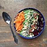 This bowl wasn't afraid to go a little vegetal. Bring some fresh grated carrots to your green bowl for a big nutritional punch in the morning.