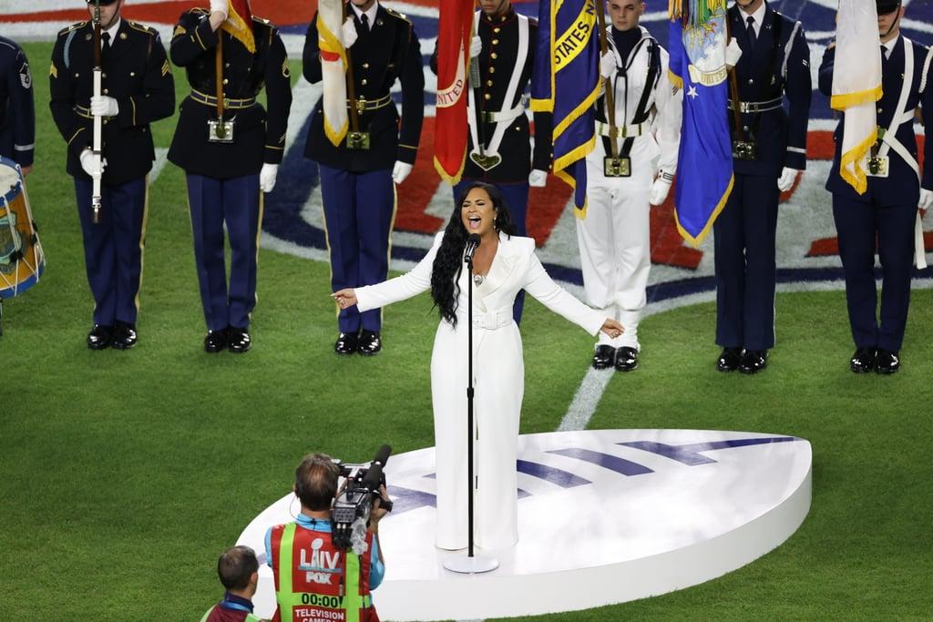 Demi Lovato Singing the National Anthem at Super Bowl 54