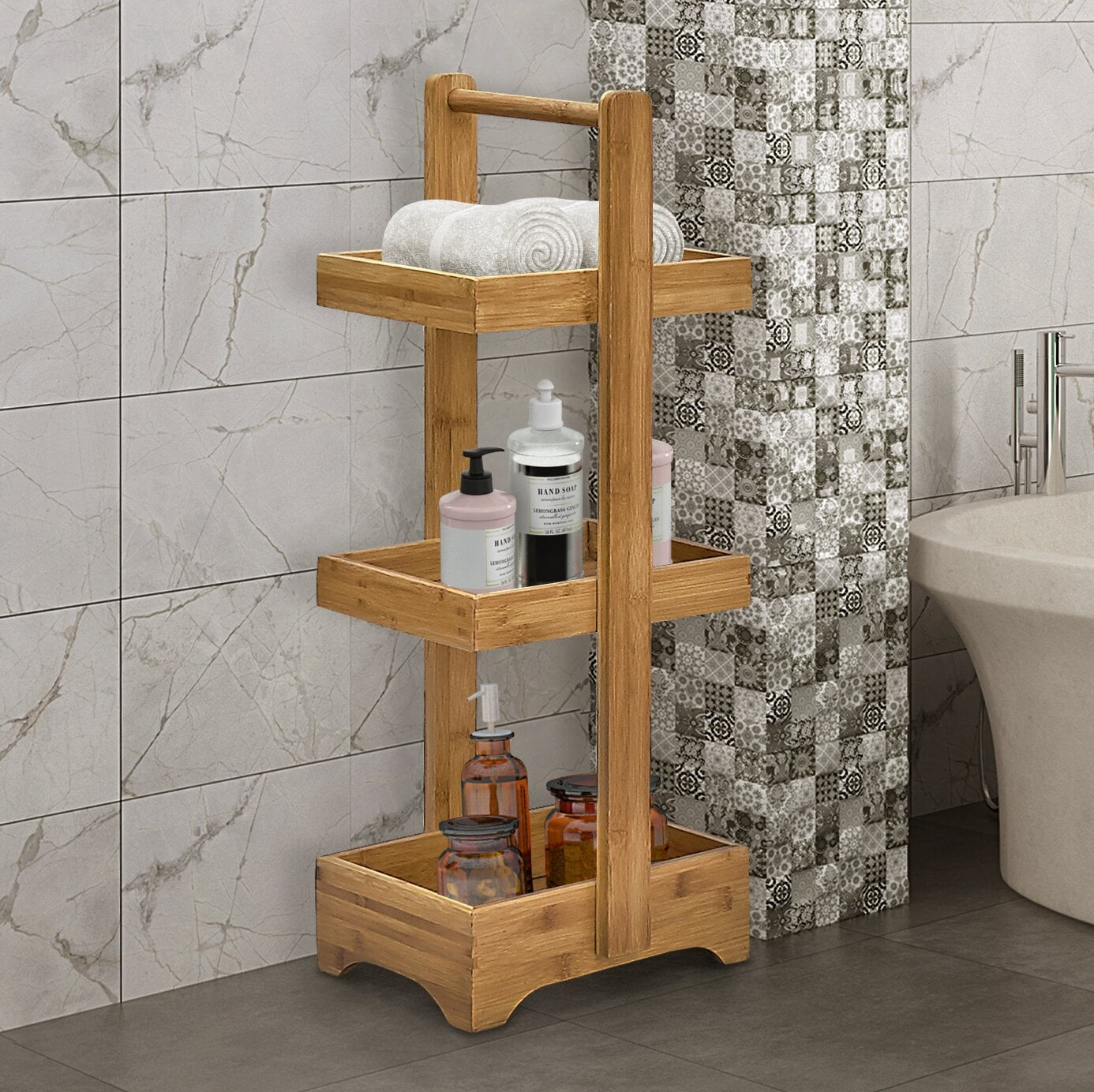 Braewyn Solid Wood Free Standing Bathroom Shelves Finally Declutter Your Bathroom With The Help Of These 19 Genius Storage Solutions Popsugar Home Photo 5