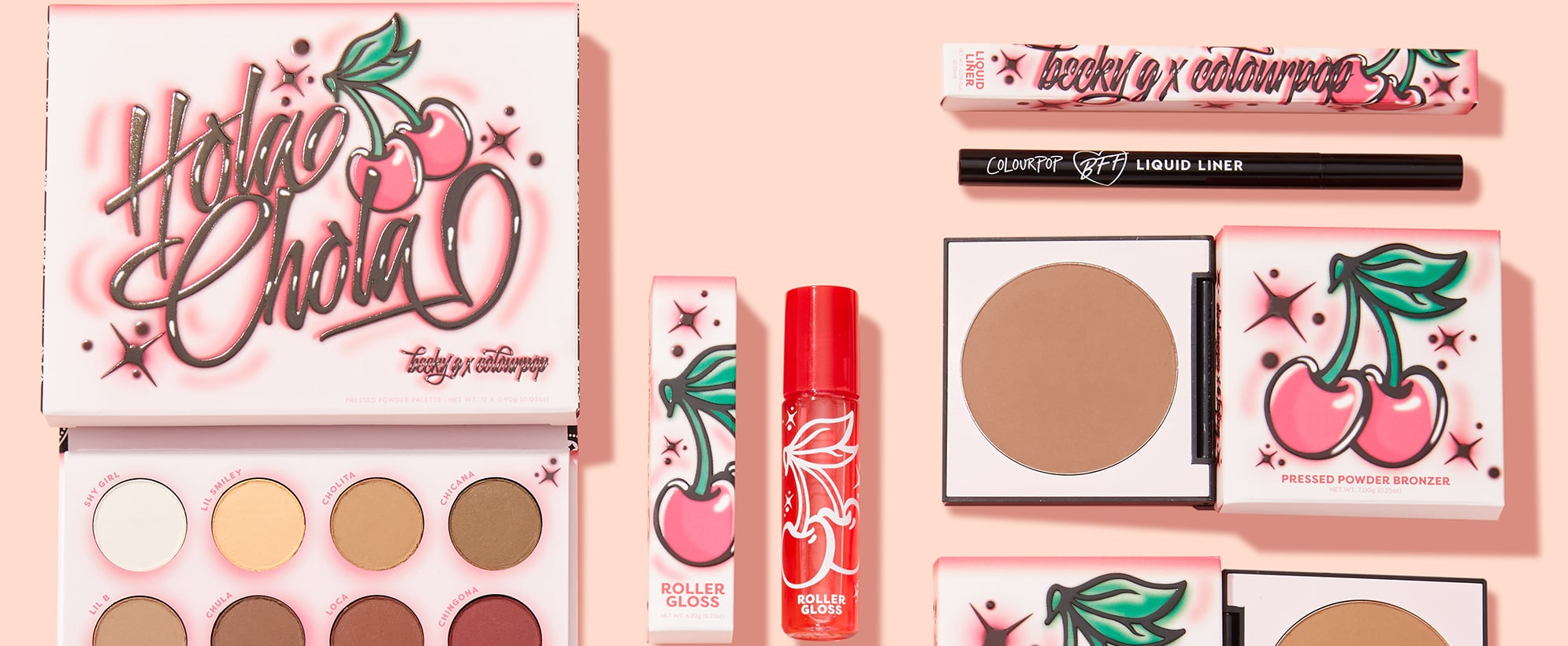ColourPop and Becky G Hola Chola Makeup Collection