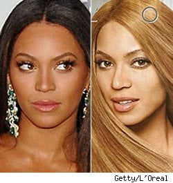 Beyonce in L'Oreal Ad With Lighter Skin