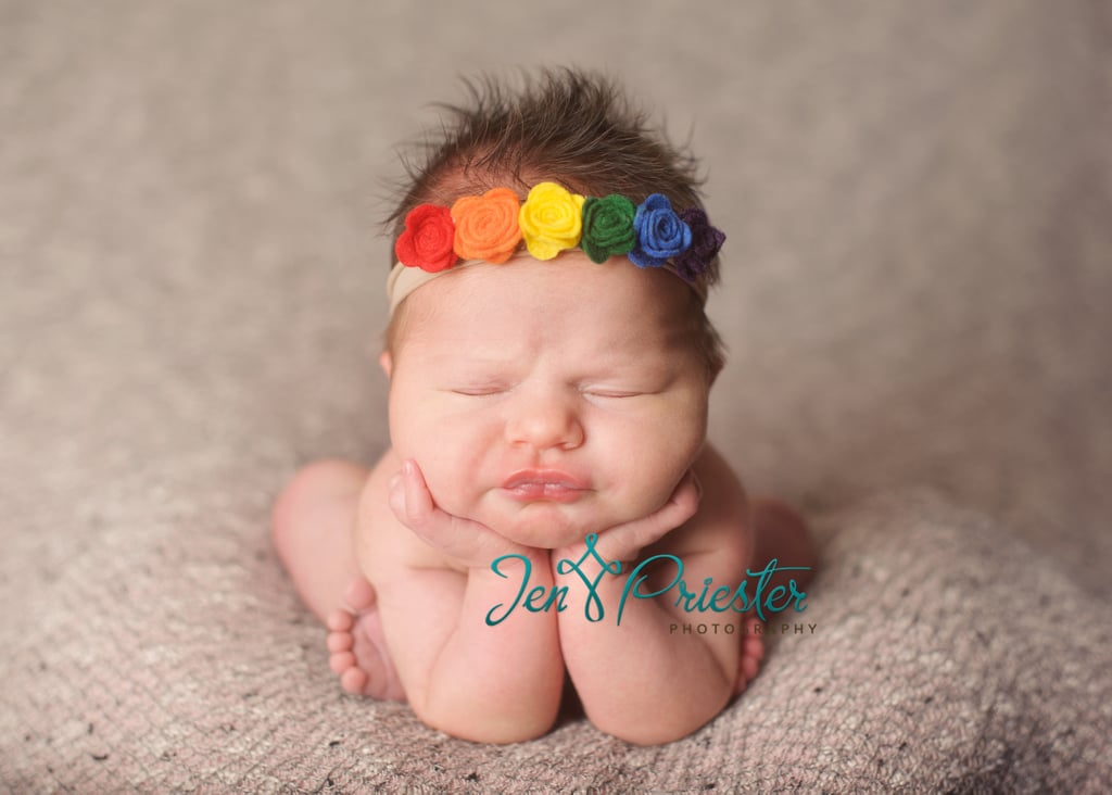 When baby Charlotte s mom brought a rainbow headband to her newborn shoot  and explained that it 424b69475f0