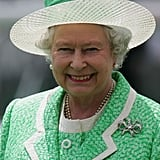 The sun was shining on Queen Elizabeth II at the 2005 derby.