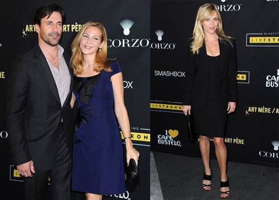 Reese Witherspoon, Jon Hamm and Jennifer Westfeldt at a LiveStrong Benefit in LA