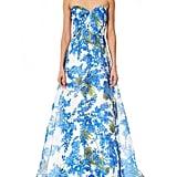 Carolina Herrera Floral-Print Evening Gown