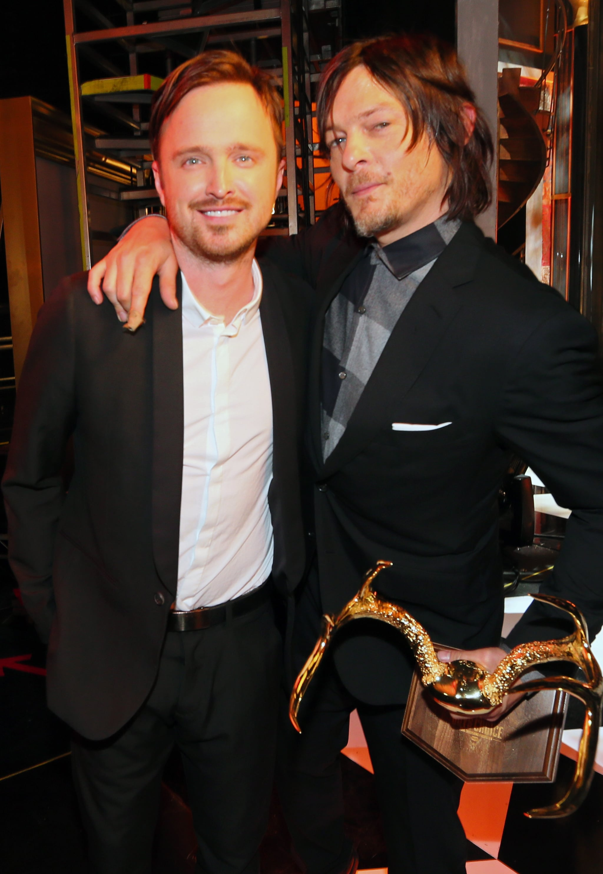 Aaron Paul linked up with The Walking Dead actor Norman Reedus.