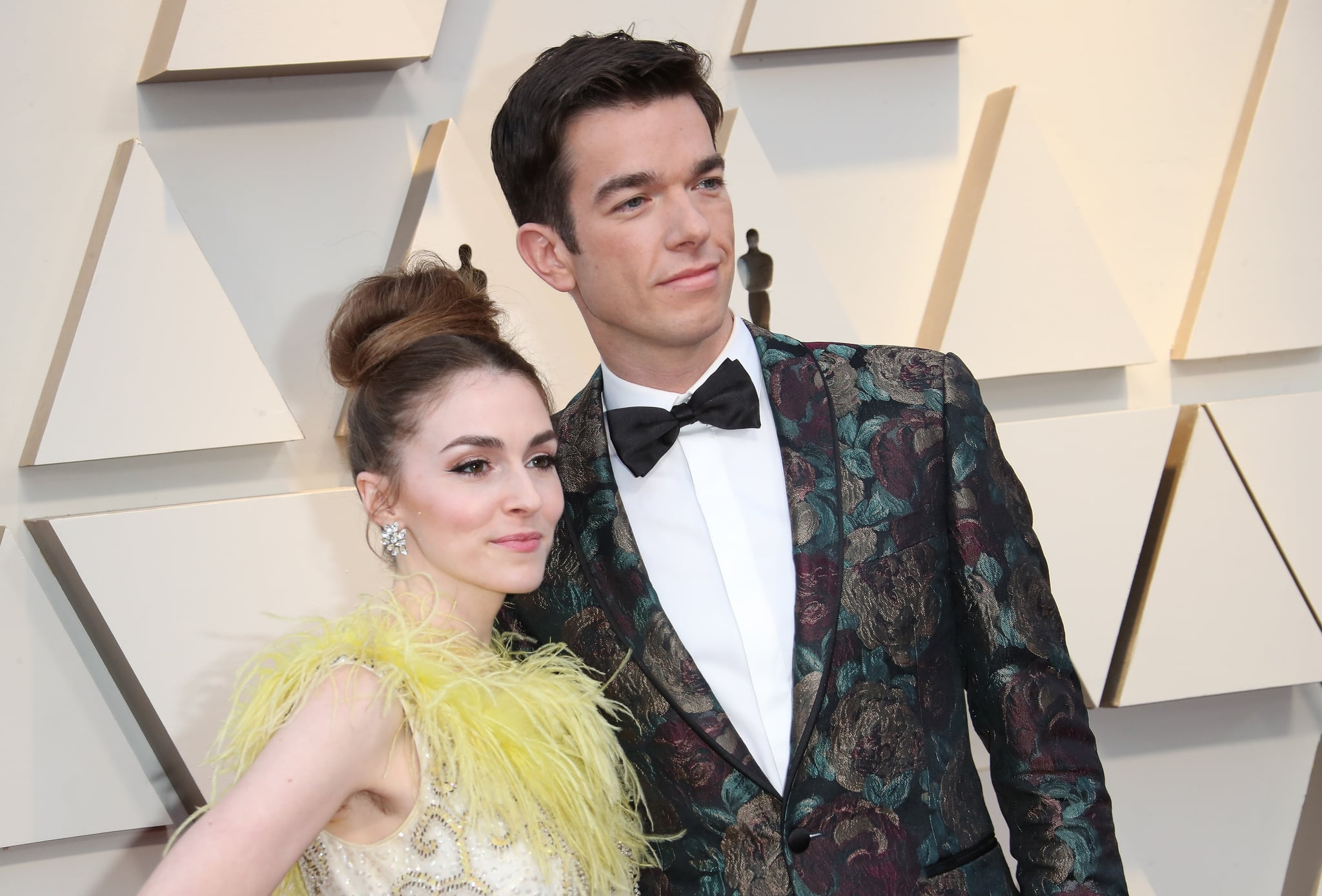HOLLYWOOD, CA - FEBRUARY 24: Annamarie Tendler and John Mulaney attend the 91st Annual Academy Awards at Hollywood and Highland on February 24, 2019 in Hollywood, California. (Photo by Dan MacMedan/Getty Images)