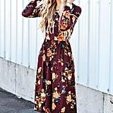 Zesica Long-Sleeve Floral Dress