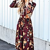 Zesica Long-Sleeved Floral Dress