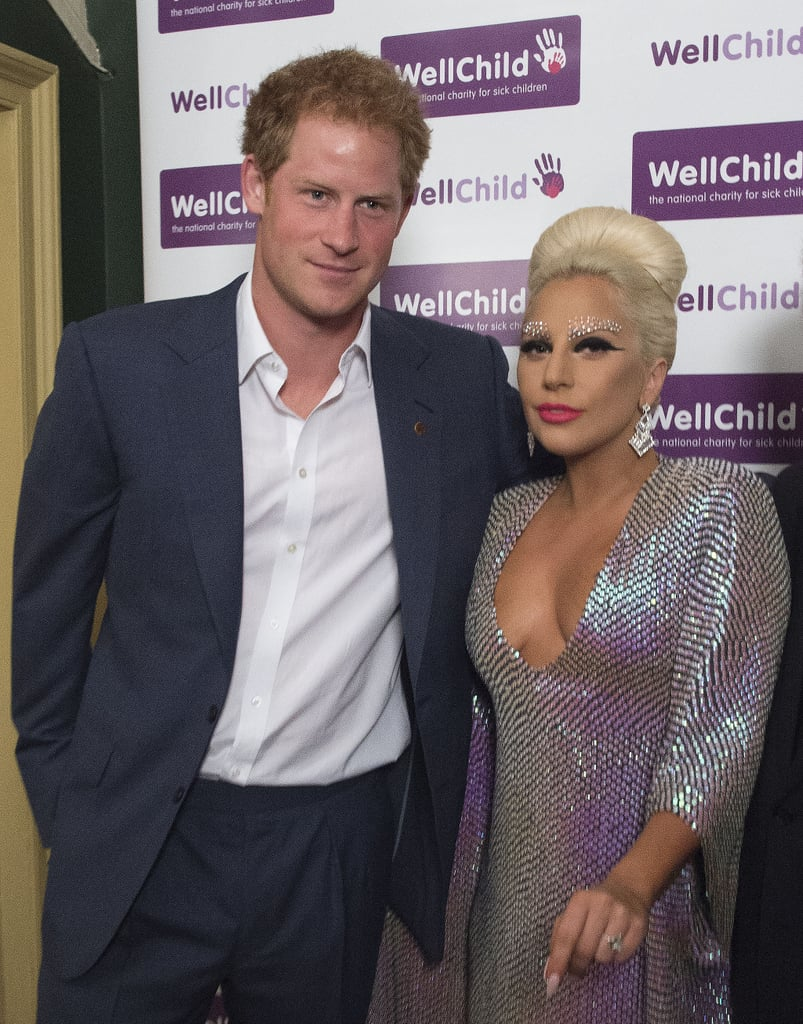 Lady Gaga and Prince Harry rubbed elbows at a London gala concert benefitting WellChild in June 2015.