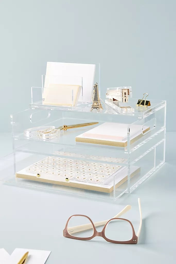Russel+Hazel Acrylic Bloc Collection Desk Storage