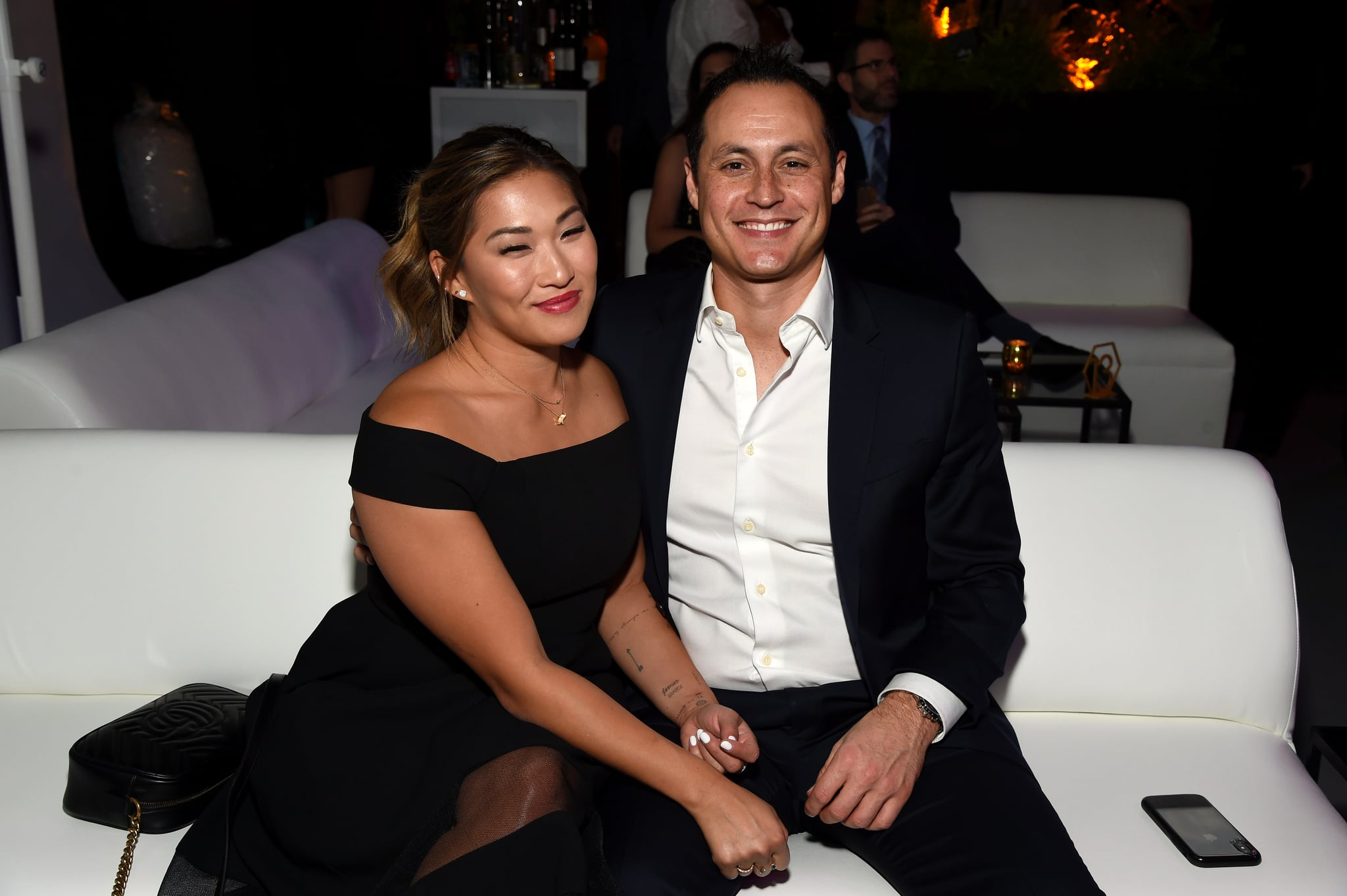 LOS ANGELES, CALIFORNIA - OCTOBER 12: (L-R) Jenna Ushkowitz and David Stanley attend the 5th Adopt Together Baby Ball Gala on October 12, 2019 in Los Angeles, California. (Photo by Michael Kovac/Getty Images for Adopt Together)