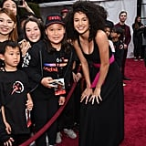 Sofia Wylie at the World Premiere of Mulan in LA