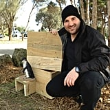 George Calombaris made a penguin box — and a new friend, it seems! Source: Twitter user gcalombaris