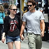 Anna Paquin and Stephen Moyer held hands in Venice Beach.