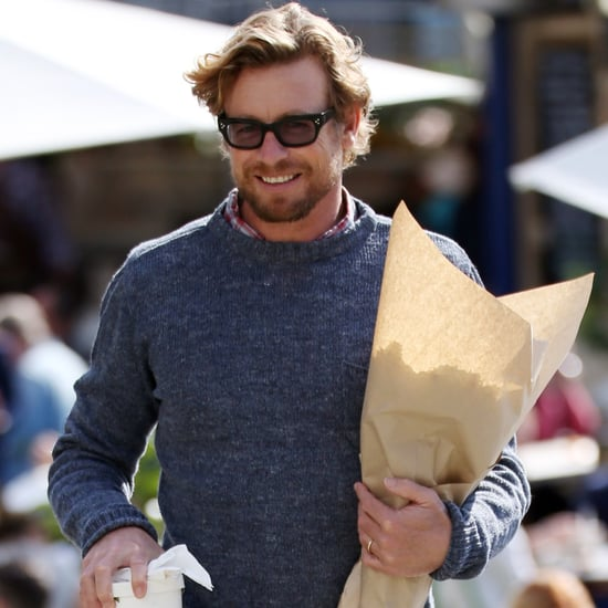 Simon Baker Buying Flowers in Sydney August 2016