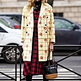 Wear a '90s-Inspired Dress With a Checkered Coat