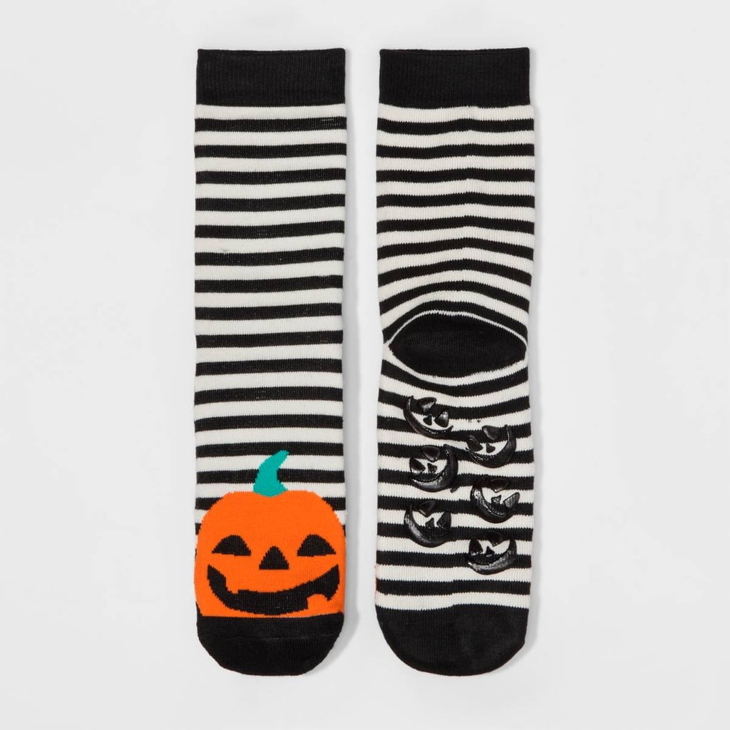 Merona Women's Striped Pumpkin Halloween Crew Socks
