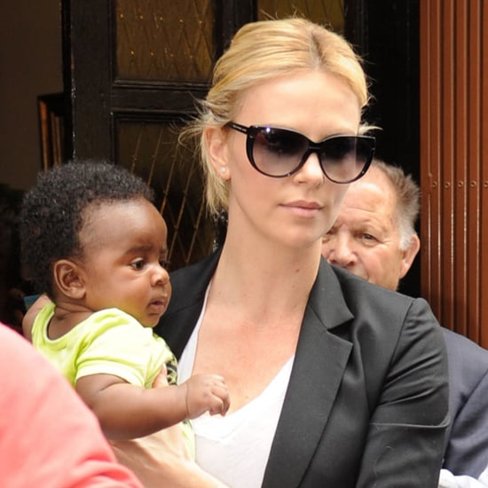 Charlize and Jackson Theron in Madrid Pictures