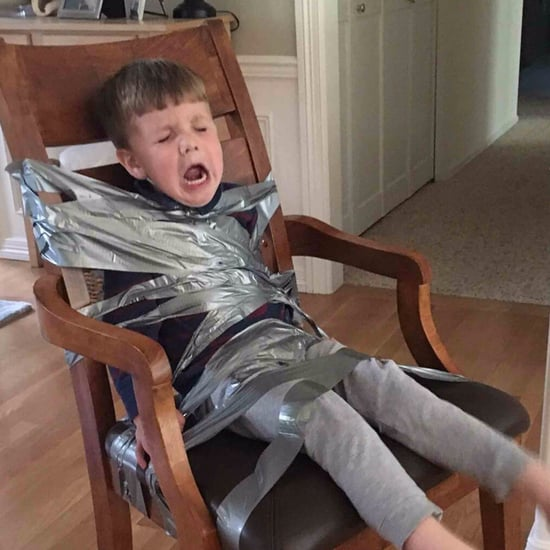 Boy Duct Taped to a Chair by His Older Siblings