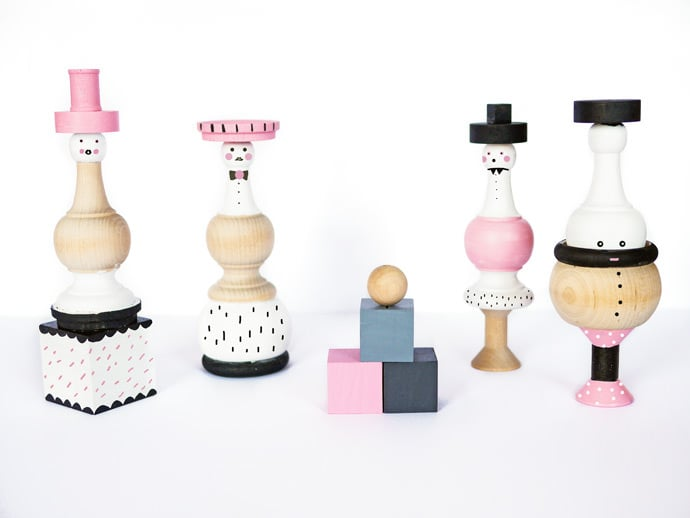 Wooden Spindle Dolls
