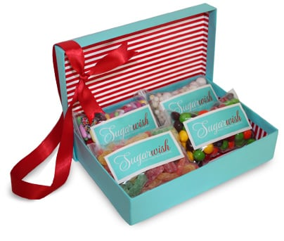I've been obsessed with giving (and getting!) Sugarwish assortments ($25-$65) since I learned about them last year. I have a notorious sweet tooth, and I simply love that the recipient is able to pick her own goodies, so you don't have to guess anyone's favorite candy.