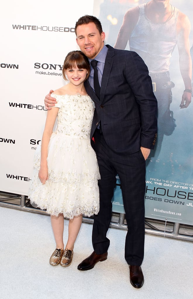 Channing Tatum embraced his onscreen daughter, Joey King, at the White House Down premiere in Washington DC in June.