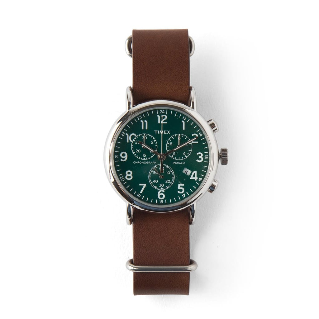 The color pairings on the Timex Weekender Chrono Oversized Watch ($79) are undeniably fresh.
