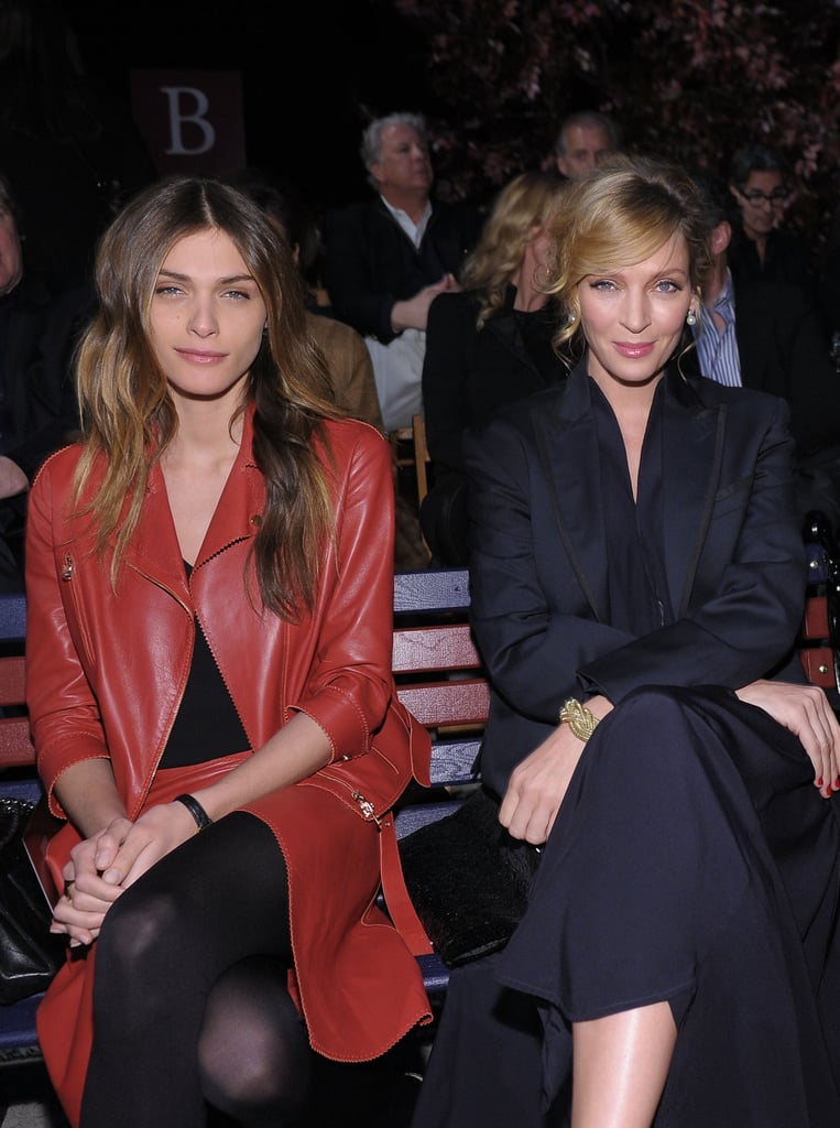 Elisa Sednaoui and Uma Thurman at Tommy Hilfiger