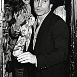 Paul Simon attends Woody Allen's New Year's Eve party in 1979.