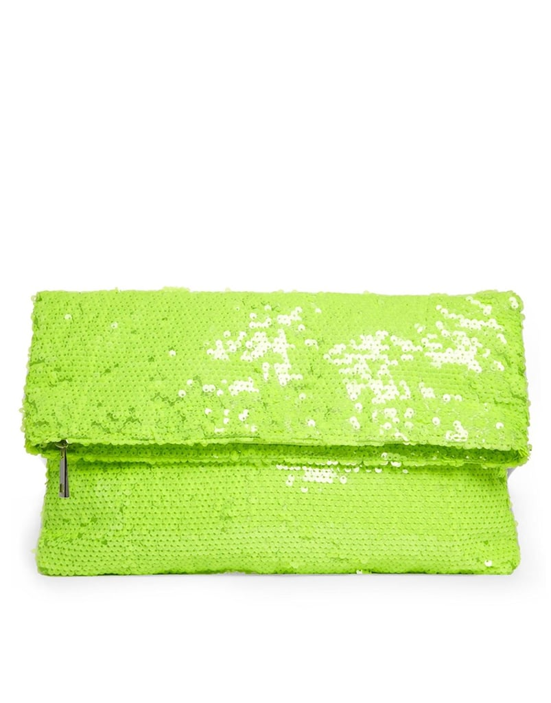 ASOS Sequin Foldover Clutch