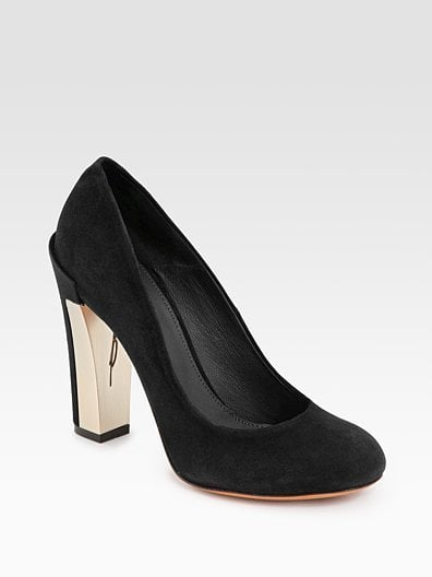 Black Pangea Suede Pumps ($400)