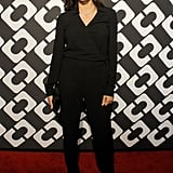 Rosario Dawson went for an all-black outfit.