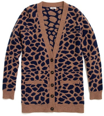 The coolest way to do a subtle giraffe print. Madewell Pebble Cardigan ($118)