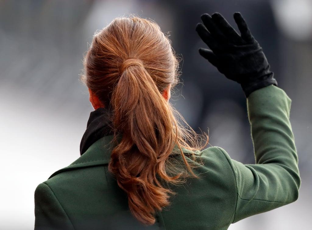 Kate Middleton's Polished Ponytail, 2019