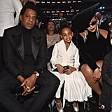 Pictured: JAY-Z, Blue Carter, and Beyoncé