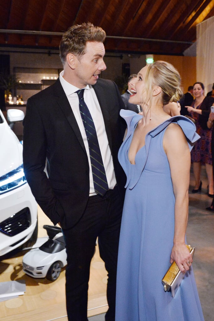 The pair exchanged cute looks at the Baby2Baby Gala in November 2017.