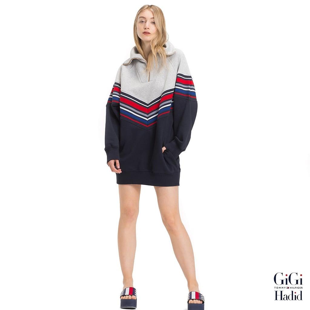 8459c7db5dbc70 Gigi Hadid Stripe Sweater Dress ( 180)