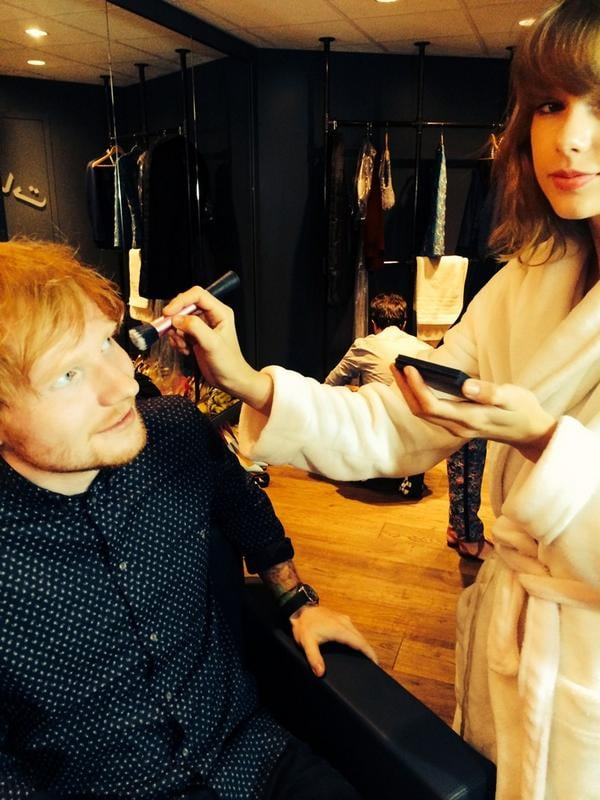 Aww! Taylor Swift and Ed Sheeran got ready for the VMAs together.