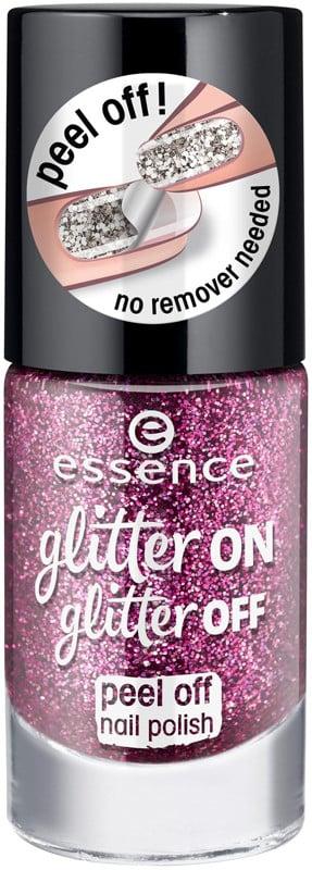 A Pink Glitter Nail Polish