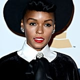 Janelle Monae at Clive Davis's Party