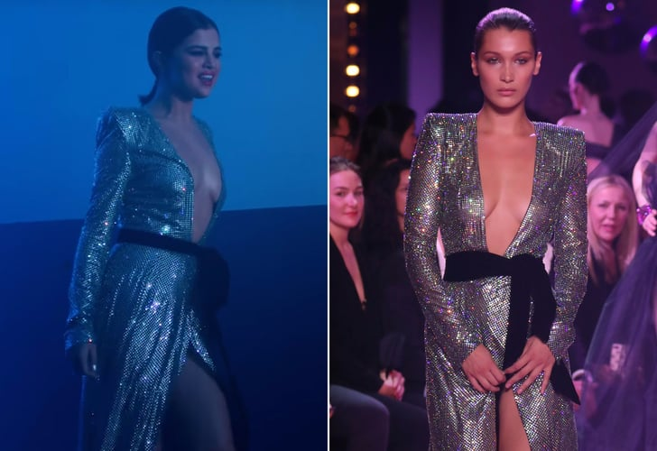On a New Episode of Celebrity Soap Opera, Selena Gomez and Bella Hadid Wore the Same Silver Dress