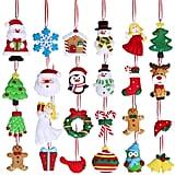 Winlyn Christmas Countdown Advent Calendar Ornaments 24 Set