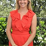 Reese Witherspoon in red at the Tusk Trust reception in Beverly Hills.