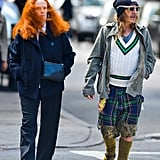 Grace Coddington and John Galliano went for a stroll in New York City.