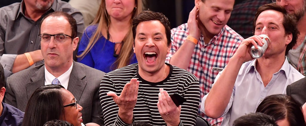 Let These Adorable Photos of Jimmy Fallon at the Knicks Game Distract You From Inauguration Day