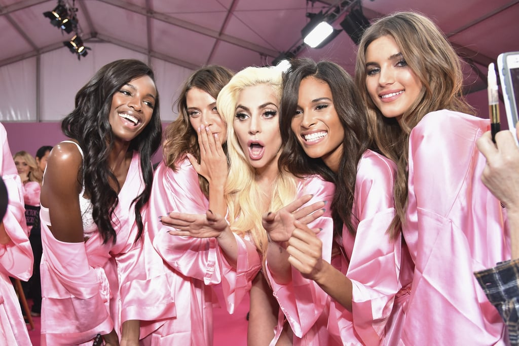 Pictured: Lady Gaga, Jasmine Tookes, Valery Kaufman, Leomie Anderson, and Lais Oliveira